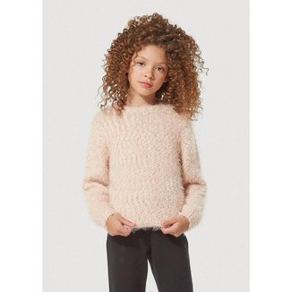 Blusão Infantil Menina Em Tricô Com Lurex - KVUY1ASI3Hering Feminino