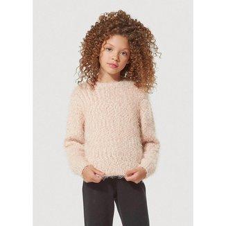 Blusão Infantil Menina Em Tricô Com Lurex - KVUY1ASI4 Feminino