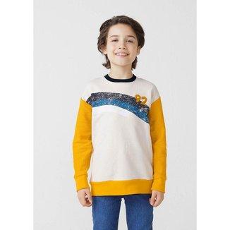 Blusão Infantil Menino Em Moletom Texturizado - 54MV1BEN1