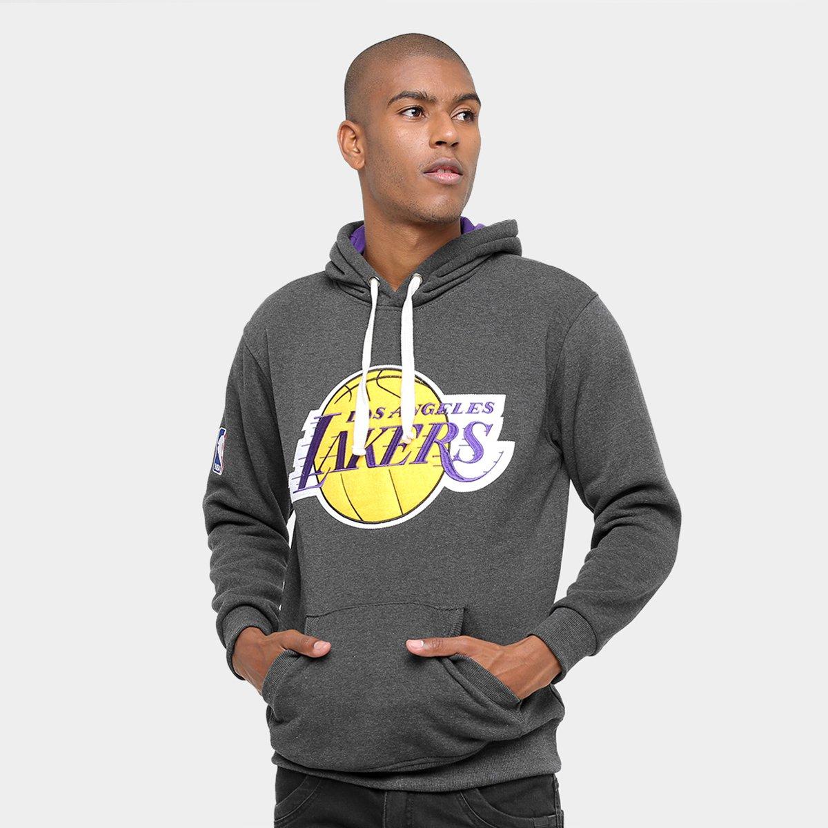 Blusão Los Angeles Lakers NBA Moletom Fechado 17 Masculino - Compre Agora  225f276562a