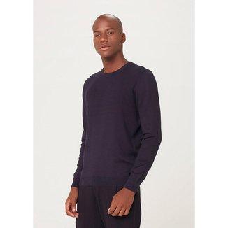 Blusão Masculino Básico Em Tricô De Algodão - K0WGMCESI6