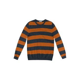 Blusão Masculino Básico Listrado Em Tricô De Algodão - K0WF3RSI2
