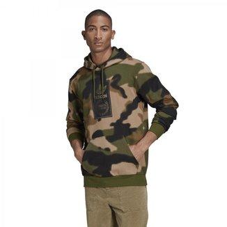 Blusão Moletom Adidas Camo Aop Hoodie  Masculino