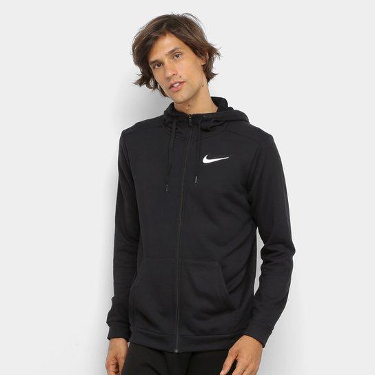 Blusão Nike Dri-Fit FZ Fleece Masculino - Preto+Branco