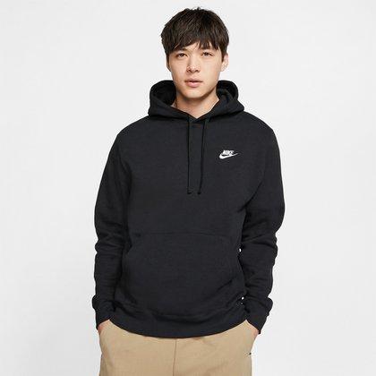 Blusão Nike Sportwear Club Hoodie Basic Masculino