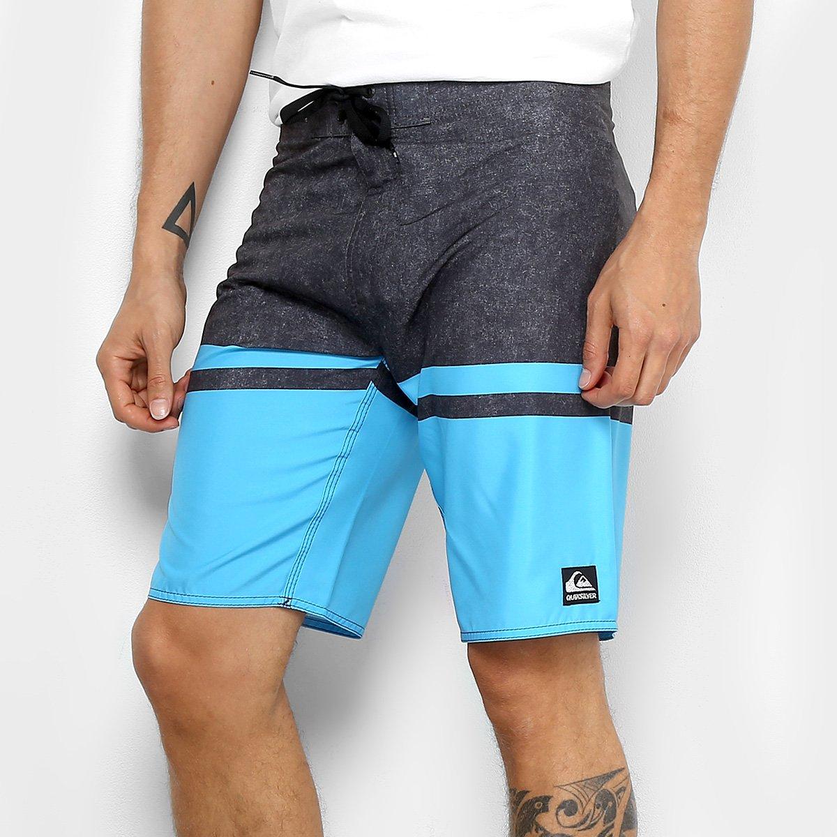 Boardshort Quiksilver Stomp Masculino - Azul Turquesa - Compre Agora ... e67805dbbc