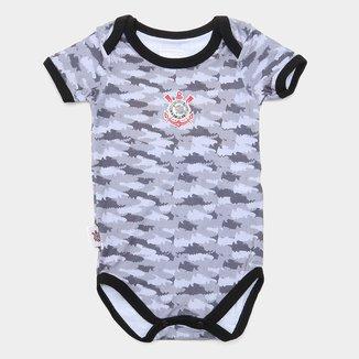 Body Bebê Corinthians Camuflado