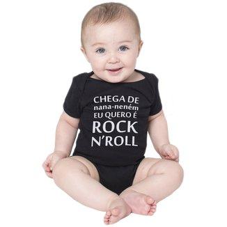 Body Bebe Frases Engraçadas Banda de Rock n' Roll Criativa Urbana