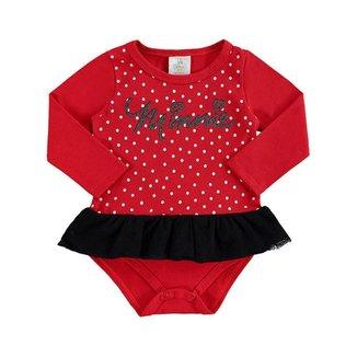 Body Bebê Infantil Com Tiara Minnie Marlan