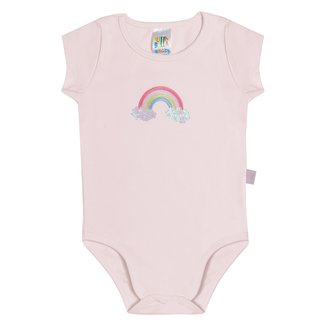 Body Bebê Pulla Bulla Arco-Íris Feminino