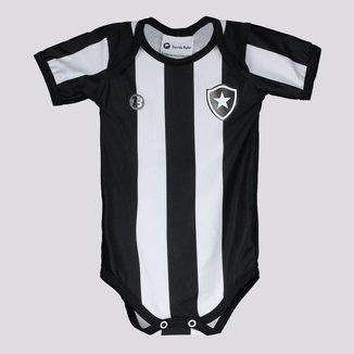 Body Botafogo Stripe II Preto e Branco