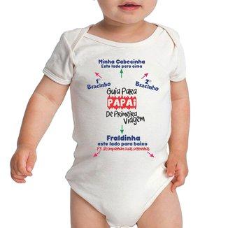 Body Criativa Urbana Bebê Frases Engraçadas Manual Guia Papai Pai