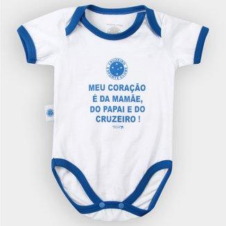 Body Cruzeiro Infantil Meu Coração É... Bebê