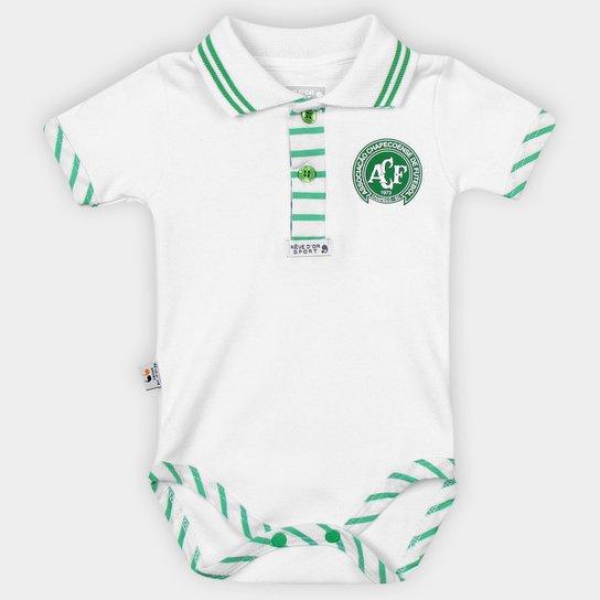 Body Infantil Chapecoense Suedini - Branco+Verde
