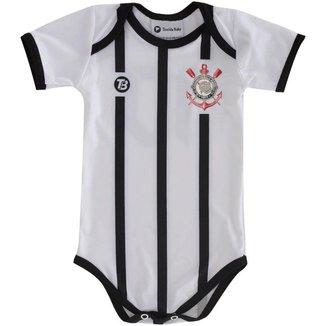 Body Infantil Torcida Baby Corinthians Proteção Solar FPU 50+