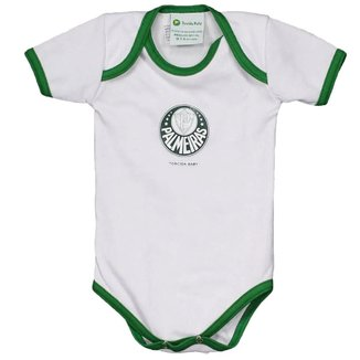 Body Infantil Torcida Baby Palmeiras Curto