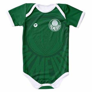 Body Infantil Torcida Baby Palmeiras Proteção Solar FPU 50+