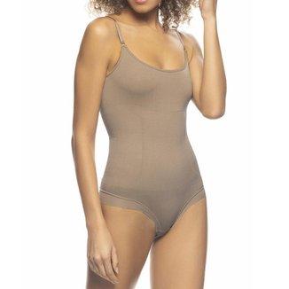 Body Modelador Com Compressão Abdominal E Alças Reguláveis
