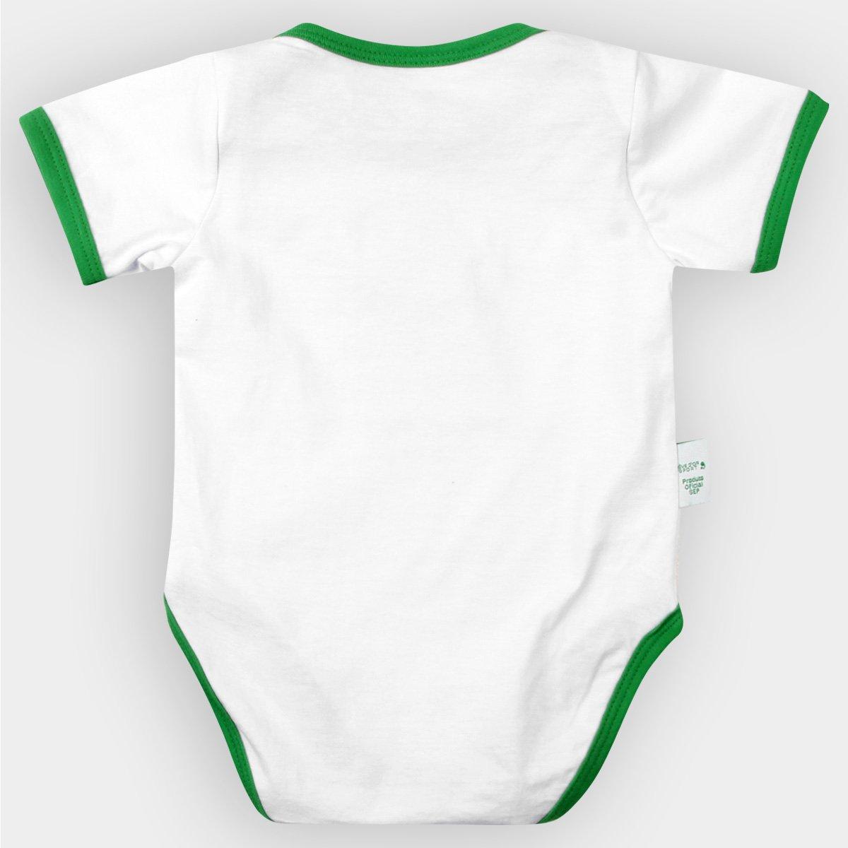 Body Palmeiras Bebê Meu Coração É... - Verde e Branco - Compre Agora ... d3c3712ba866b