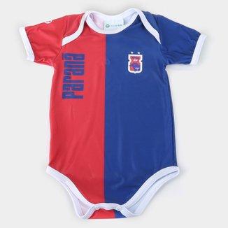 Body Paraná Infantil Torcida Baby Listrado Proteção UV