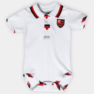 Body Polo Flamengo Bebê Suedine Mc