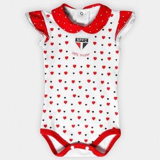 Body São Paulo Infantil Cotton Coração Bebê