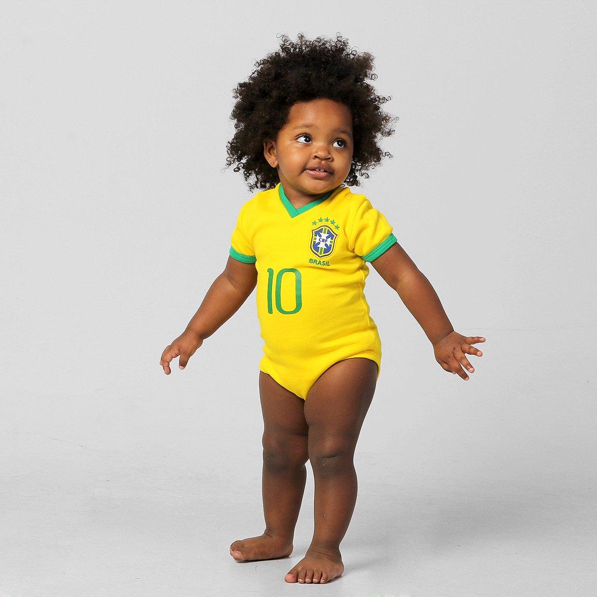 383aed40b0 Body Seleção Brasileira Camisa I Nº 10 Infantil - Compre Agora ...