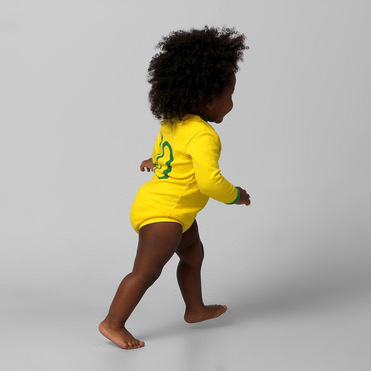 76dd9c6016 Body Seleção Brasileira Camisa I Nº 10 M L Infantil - Compre Agora ...
