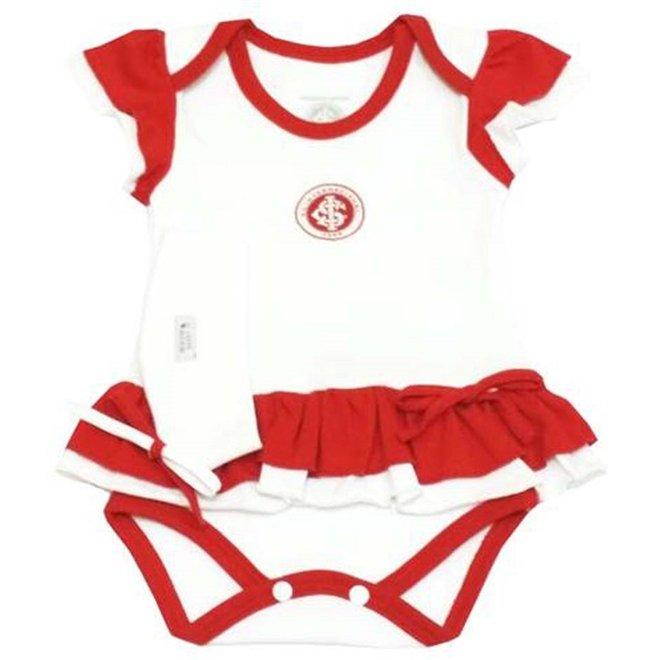 Vermelho Dor Branco e Vestido Reve Internacional Body Suedine Menina Tiara M Com PqA06