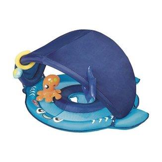 Bóia Infantil Mor Tubarão com Fralda e Para-Sol 1