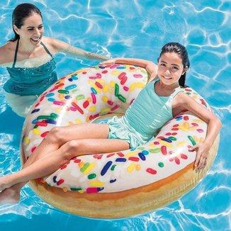 Boia Inflável Donut Gigante Intex  Capacidade 100 Kg