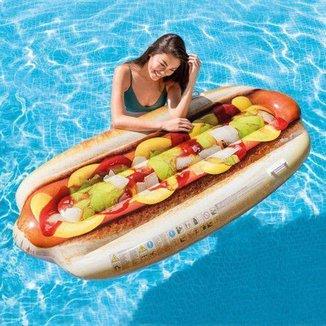 Bóia Inflável para Piscina Hot dog intex 58771