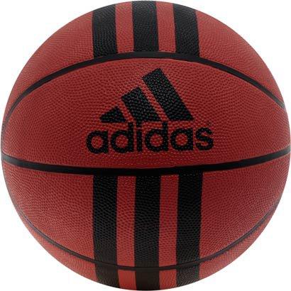 Bola Basquete Adidas 3 Stripe D29.5 - Masculino - Marrom+Preto