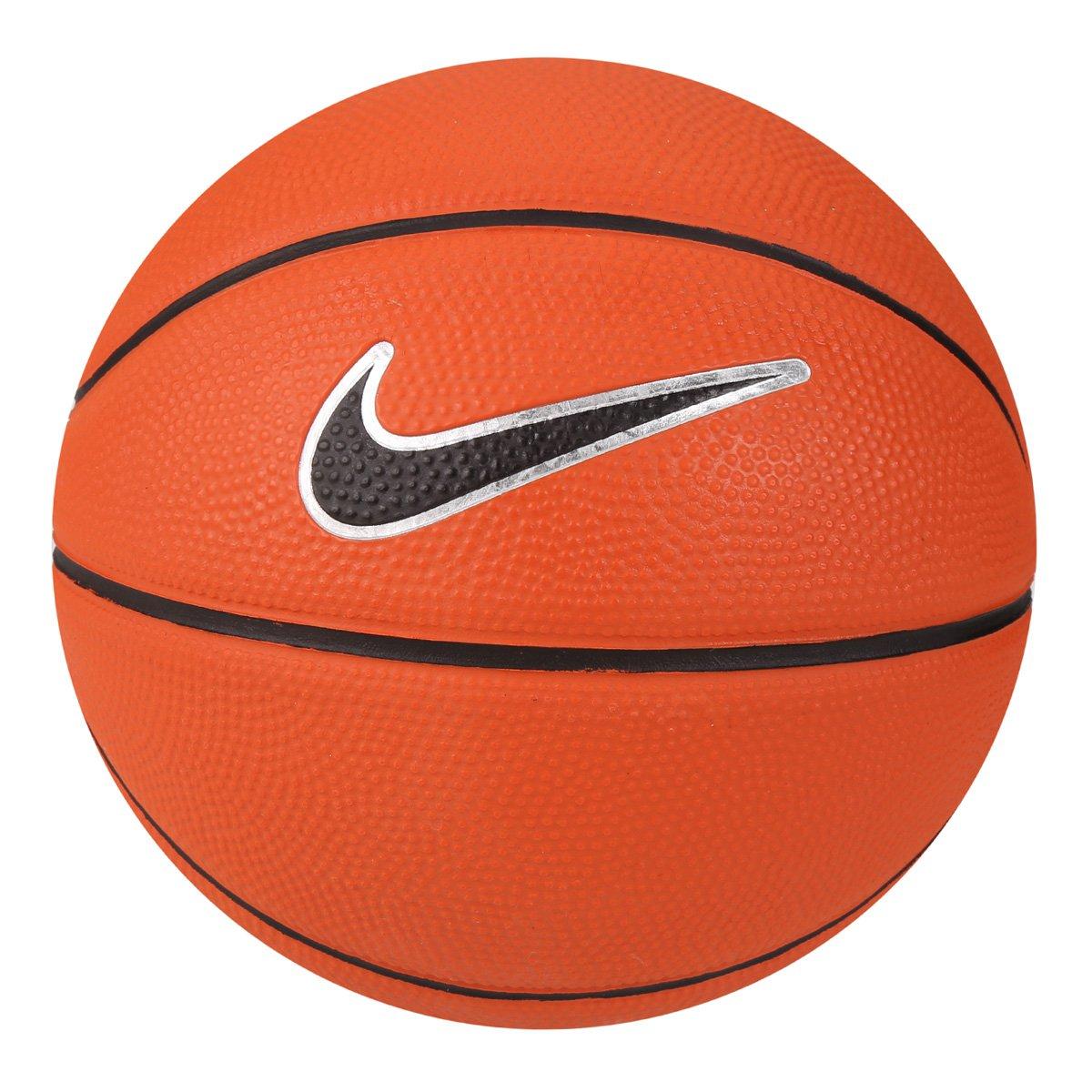 Bola Basquete Nike Swoosh Mini Tamanho 3 Mini - Laranja e Preto ... 35ba6691bcdbd