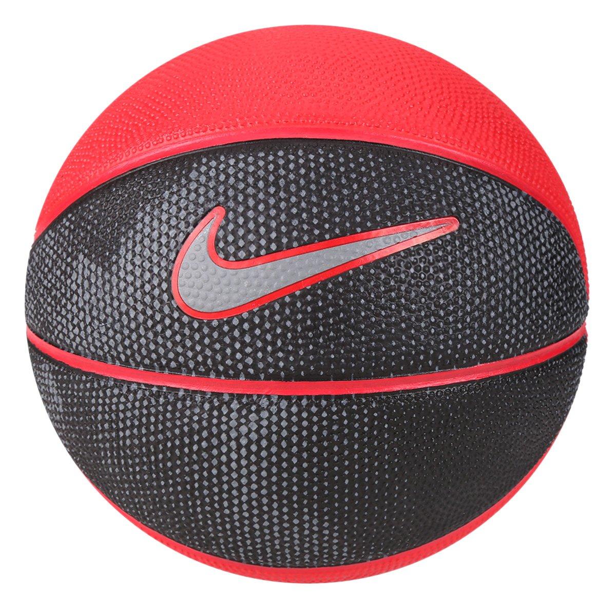 Bola Basquete Nike Swoosh Mini Tamanho 3 Mini - Vermelho e Preto ... 3294f1a6fe33a