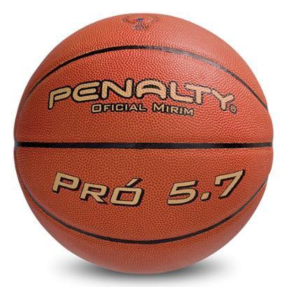 Bola Basquete Penalty 5.7 Infantil - Masculino - Laranja+Preto