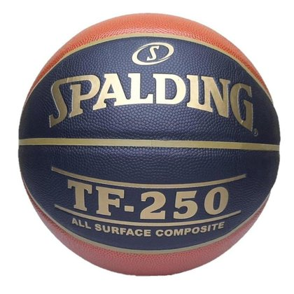 Bola De Basquete Spalding Cbb Tf-250 Couro