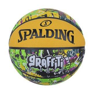 Bola de Basquete Spalding Graffiti - Amarelo/Verde