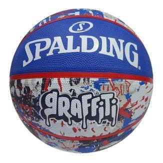 Bola de Basquete Spalding Graffiti Azul/vermelho