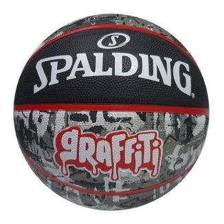 Bola de Basquete Spalding Graffiti Preto/vermelho