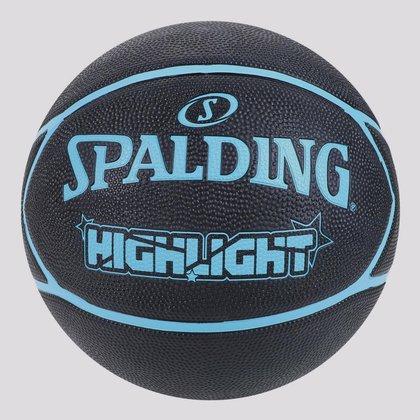 Bola de Basquete Spalding Highlight Preta e Azul