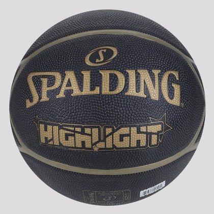 Bola de Basquete Spalding Highlight Preta e Dourada