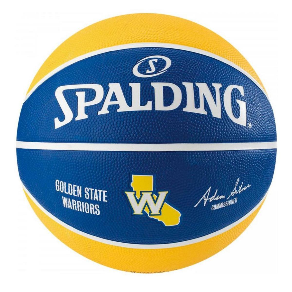 Bola de Basquete Spalding NBA Golden State Warriors Team - Azul e ... ee00e348e4386