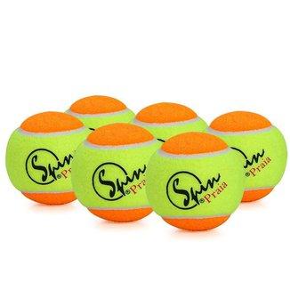 Bola de Beach Tennis Spin - Pack com 06 Bolas