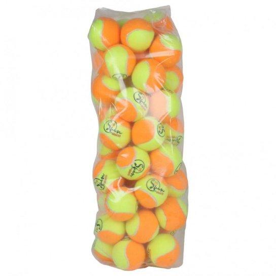 Bola de Beach Tennis Spin Praia com 40 Bolas - Amarelo+Laranja