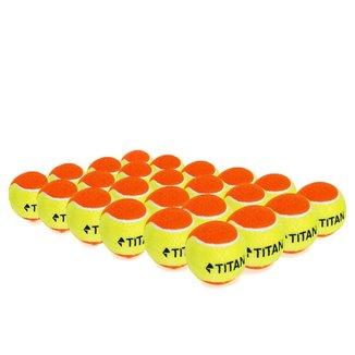 Bola de Beach Tennis Titan Laranja Pack com 24 Unidades