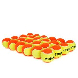 Bola de Beach Tennis Titan Laranja - Pack com 24 Unidades