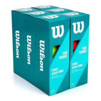 Bola de Beach Tennis Wilson Tour Premier Tubo Com 3 Unidades