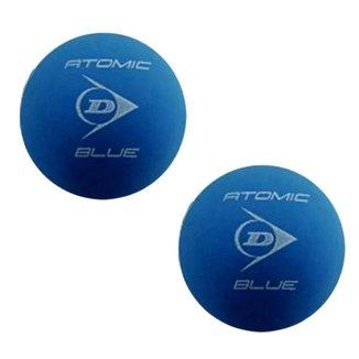 Bola de Frescobol Dunlop Atomic Blue Tubo Com 3 Unidades - Azul - Unissex Único