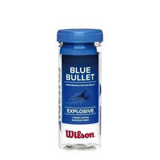 Bola de Frescobol Wilson Blue Bullet Tubo c/ 3 Bolas